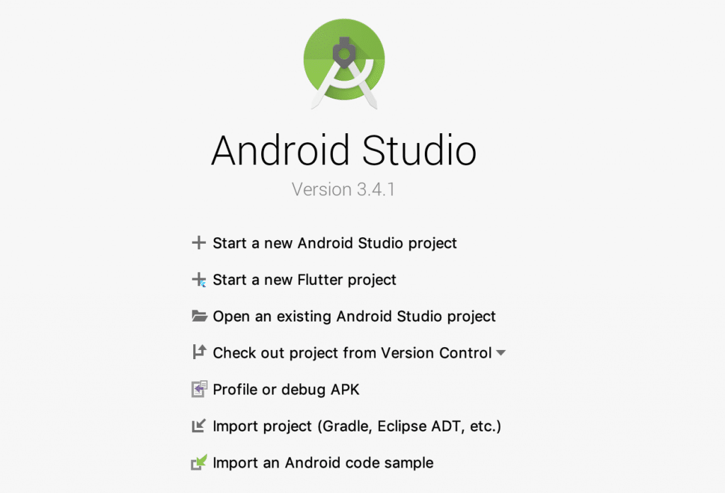 Flutter Android Welcome Screen